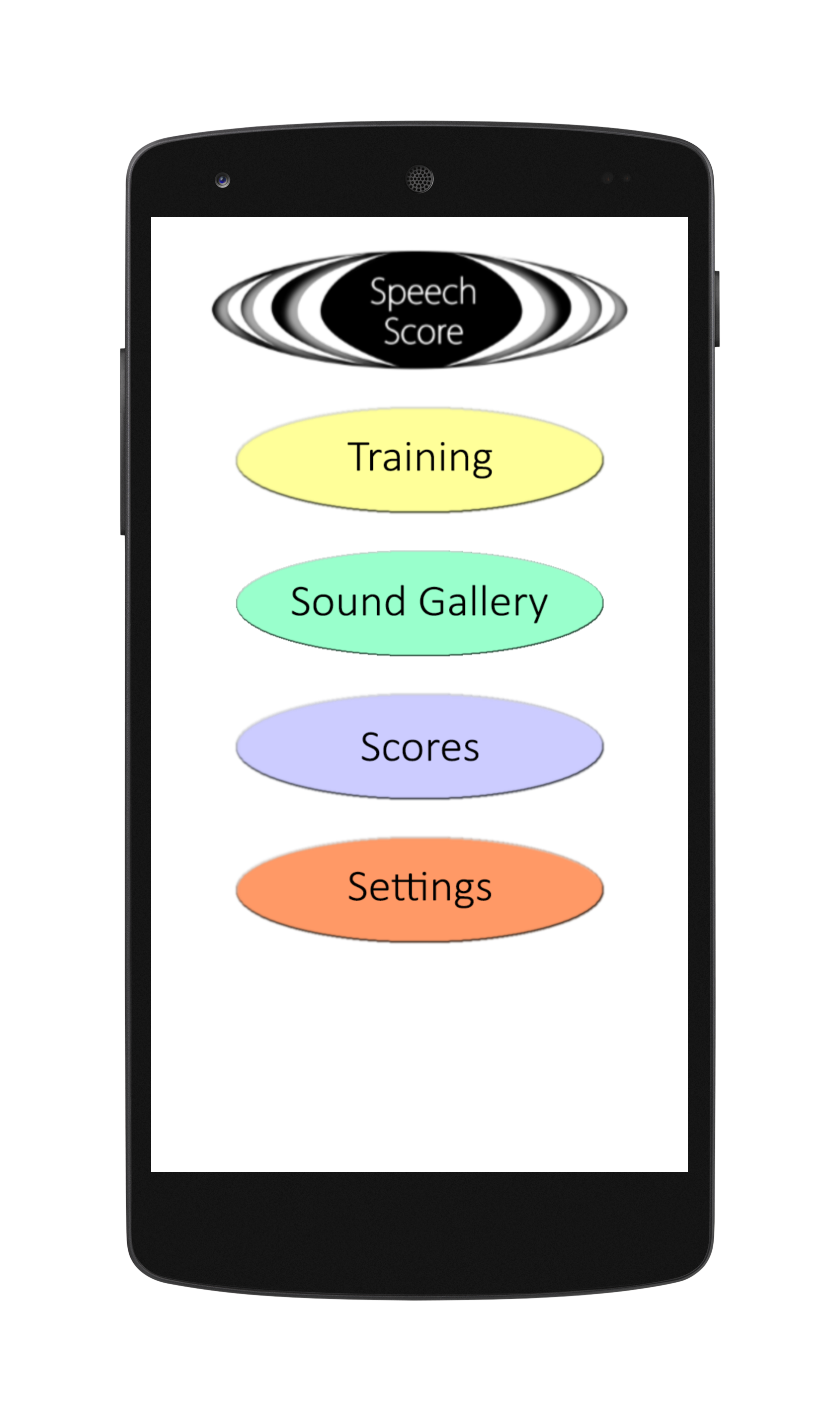 Pronunciation Training Main Screen